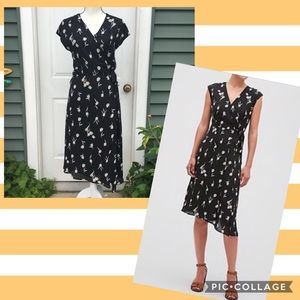 NWT Banana Republic Factory Floral Midi Wrap Dress